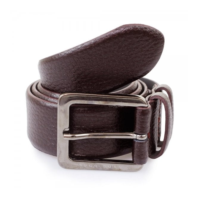 BOSS Hugo Boss Hugo Boss Dark Red Leather Belt Cesen 50299663 601