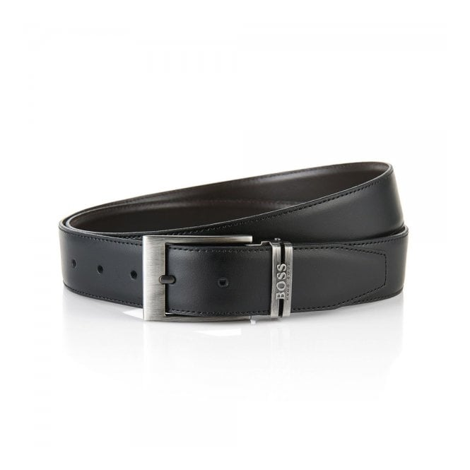 BOSS Hugo Boss Hugo Boss Galliz Black Leather Belt 50286255