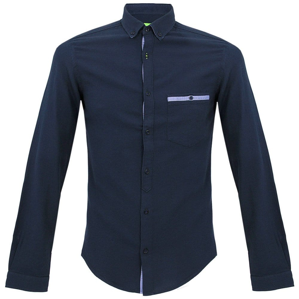 hugo boss green bigo modern fit navy shirt 50271338. Black Bedroom Furniture Sets. Home Design Ideas