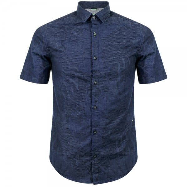 Hugo boss green clothing byagino navy shirt for Hugo boss navy shirt