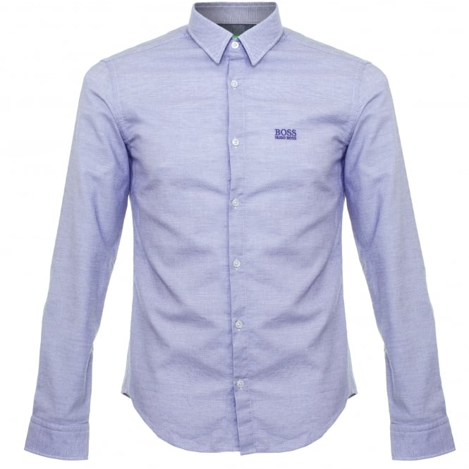 BOSS Green Hugo C-Buster Open Blue Shirt 50320135