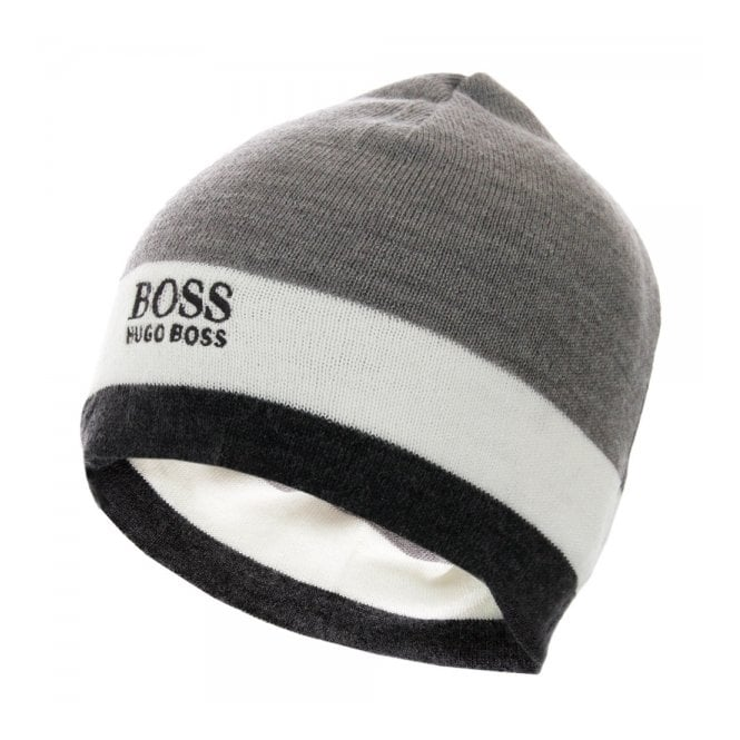Hugo Boss Green Ciny Medium Grey Beanie 50272922 - Mens Beanie 5aa97d70e4c