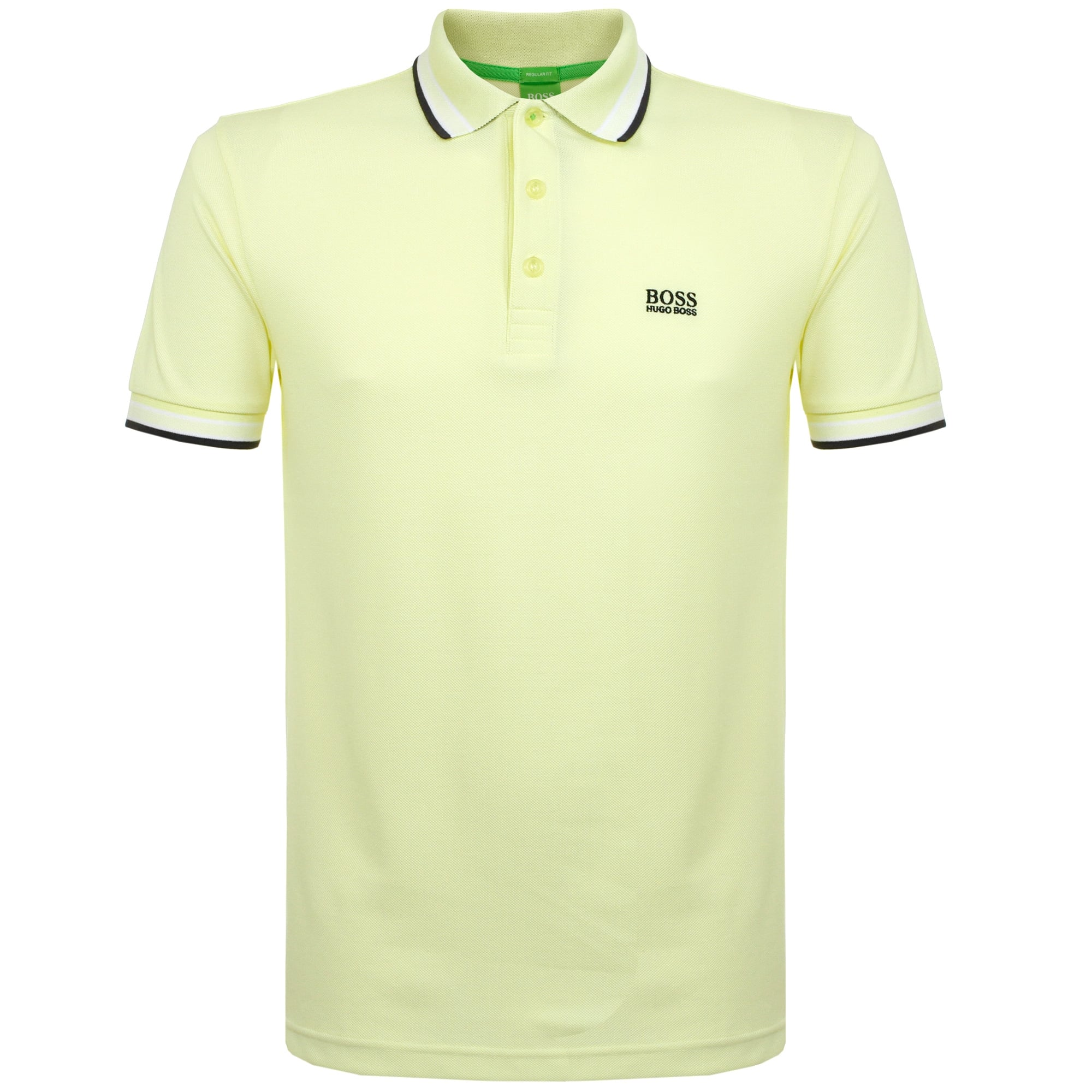 Hugo Boss Green open Yellow Polo Shirt 50302557 88843a54c