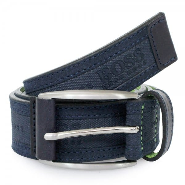 hugo boss green accessories testio navy belt 50292387. Black Bedroom Furniture Sets. Home Design Ideas