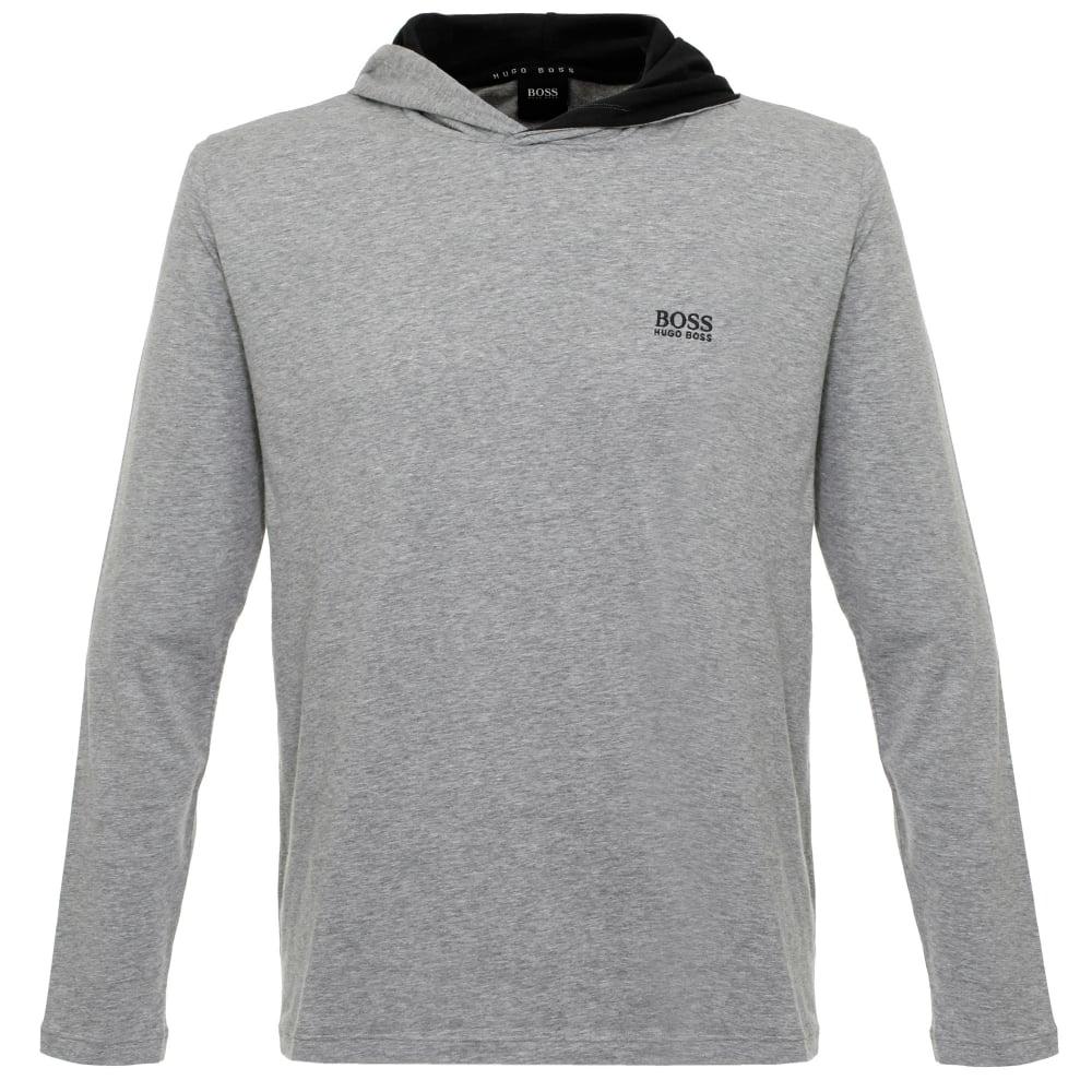 e5cc82f5 Hugo Boss Clothing Online   Hooded Medium Grey T-Shirt