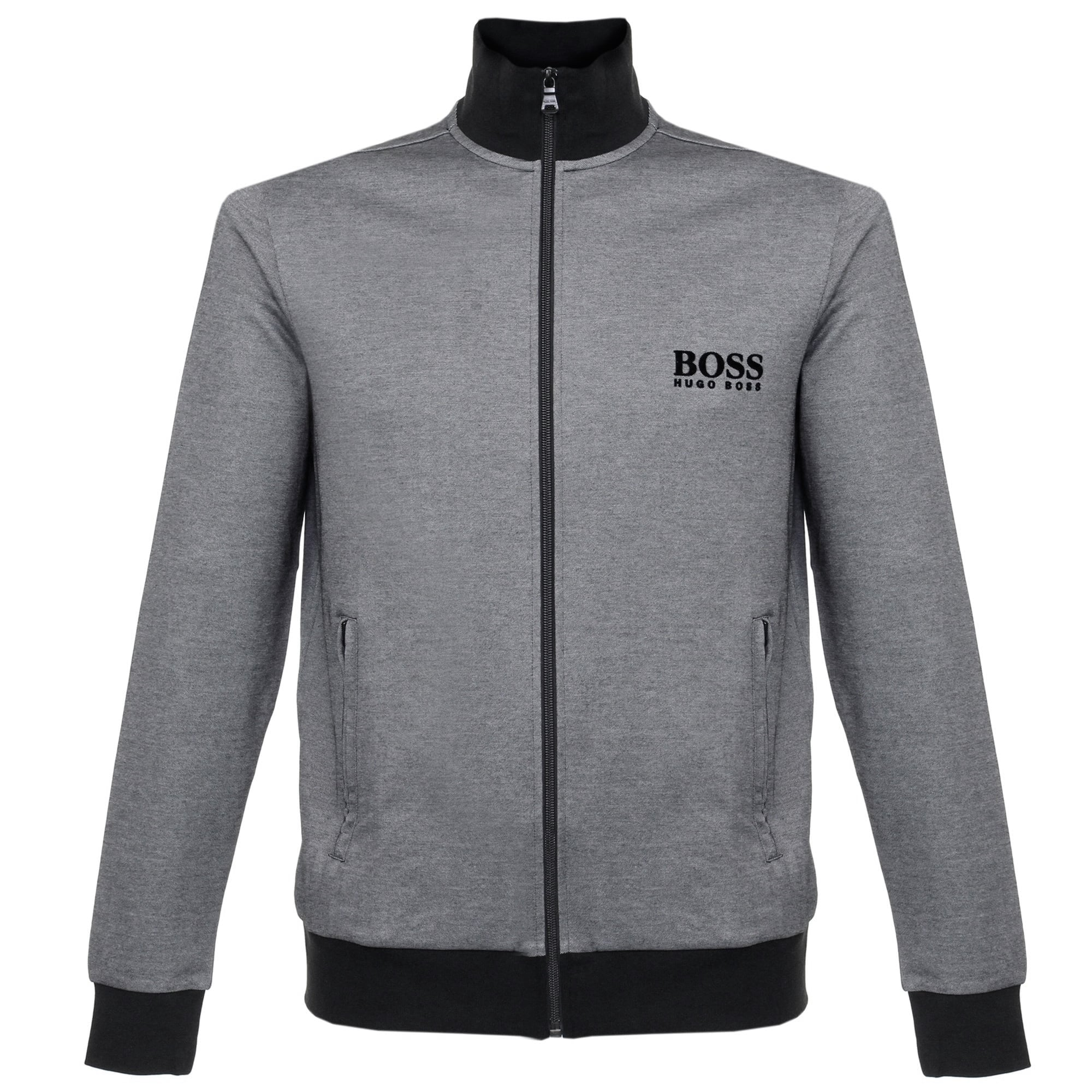 89671e6b Hugo Boss Clothing UK | Jacket Zip Black Track Top