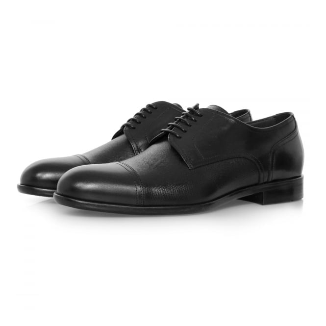 BOSS Hugo Boss Hugo Boss Manhattan Derby Leather Black Shoe 50321647
