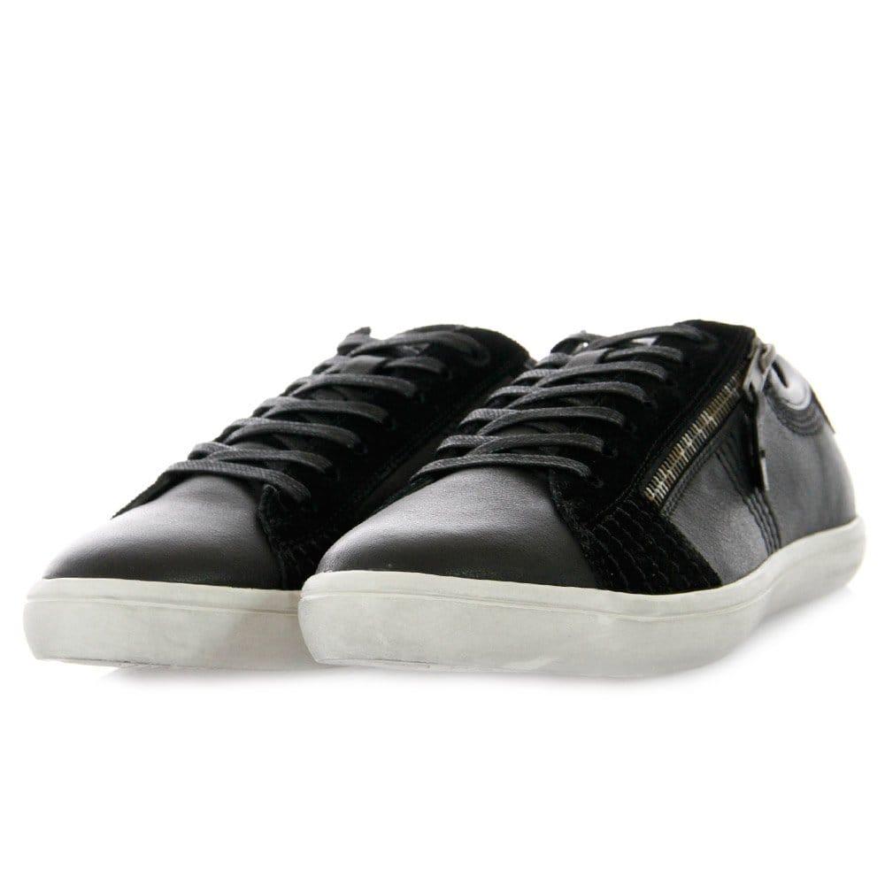 Hugo Boss Black Leather Velcro Shoe - Footwear from DesignerWear2U UK