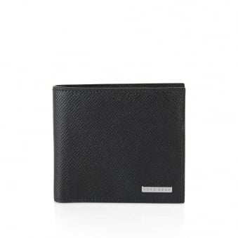 Hugo Boss Signature_4 CC Coin Black Leather Wallet 50311738