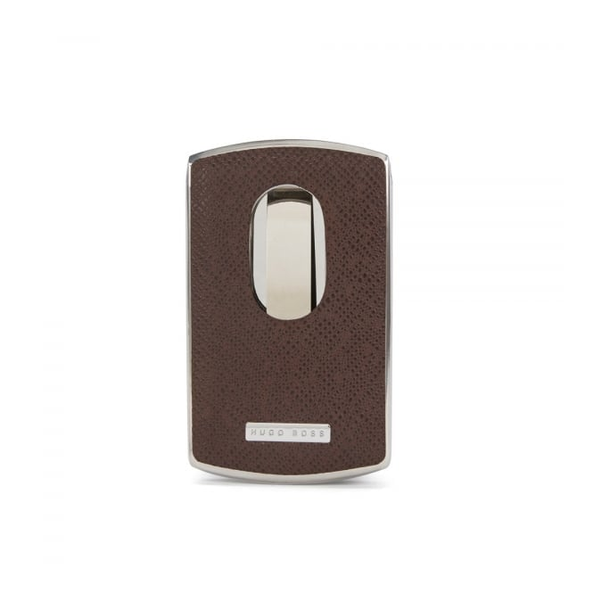 reputable site cdd3e 29b61 BOSS Hugo Boss Signature Dark Brown Metal Card Holder 50311750