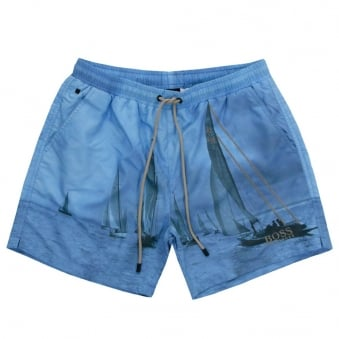 Hugo Boss Springfish Open Blue Swim Shorts 50286810