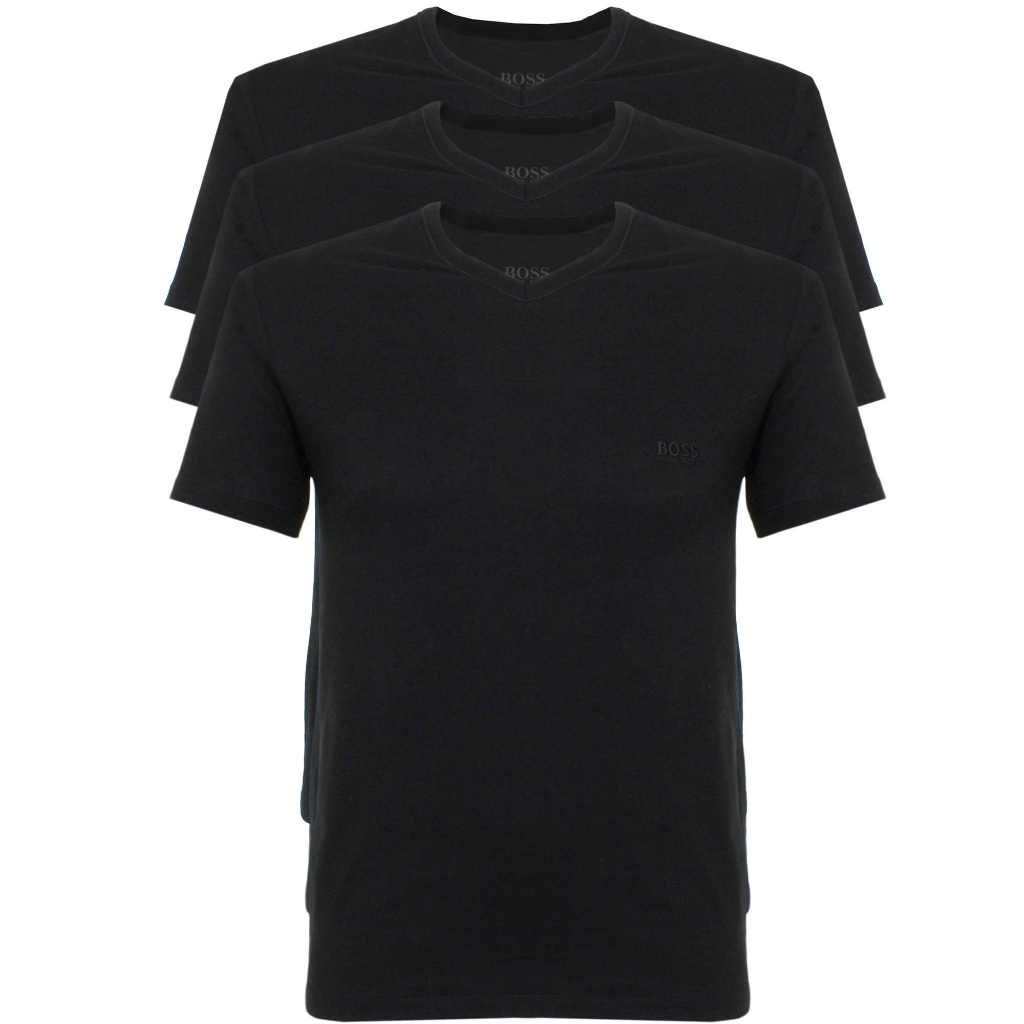 1c5b1844b Hugo Boss Triple Pack V-neck Black T-Shirt - Christmas Gift