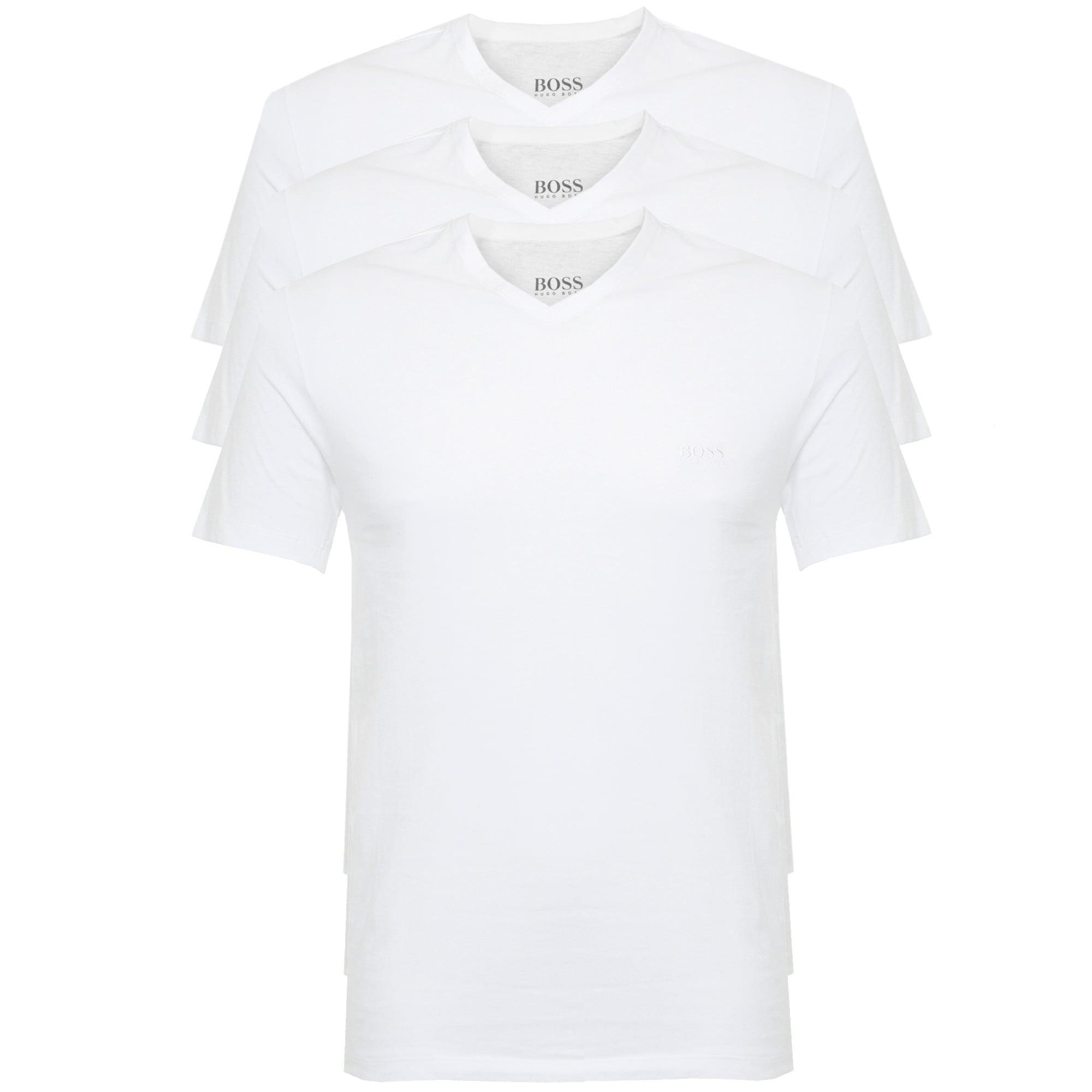 5e52f2a66 Hugo Boss Triple Pack V-neck White T-Shirt 50325389