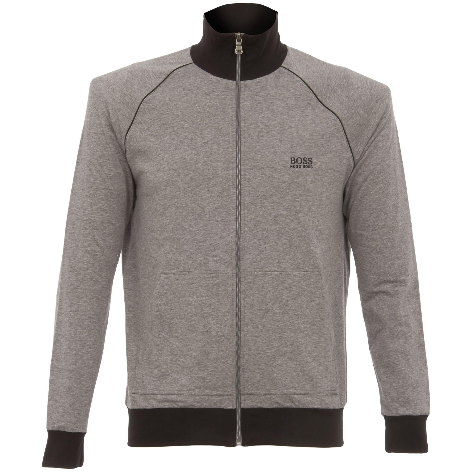 629406521 Hugo Boss Zip Track Top Grey 5031044MG | Stuarts London