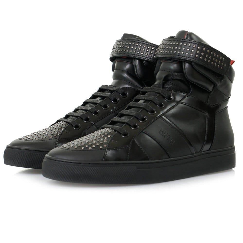 hugo by hugo boss footwear fulten mid black shoes. Black Bedroom Furniture Sets. Home Design Ideas