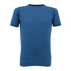 John Smedley Placido Striped Shadow Blue T-Shirt N6