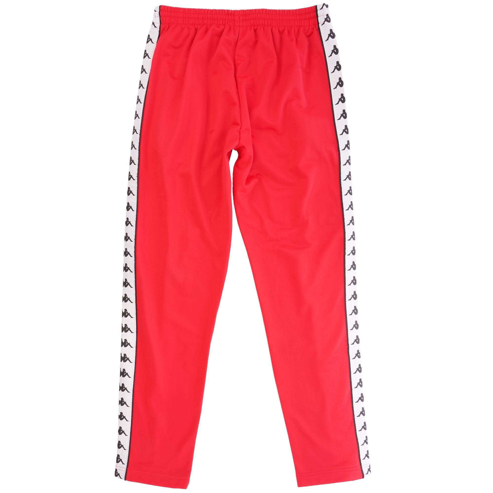 d65fc007 Kappa 222 Banda Astoria Track Pants   Red and Black   301EFS0-C93