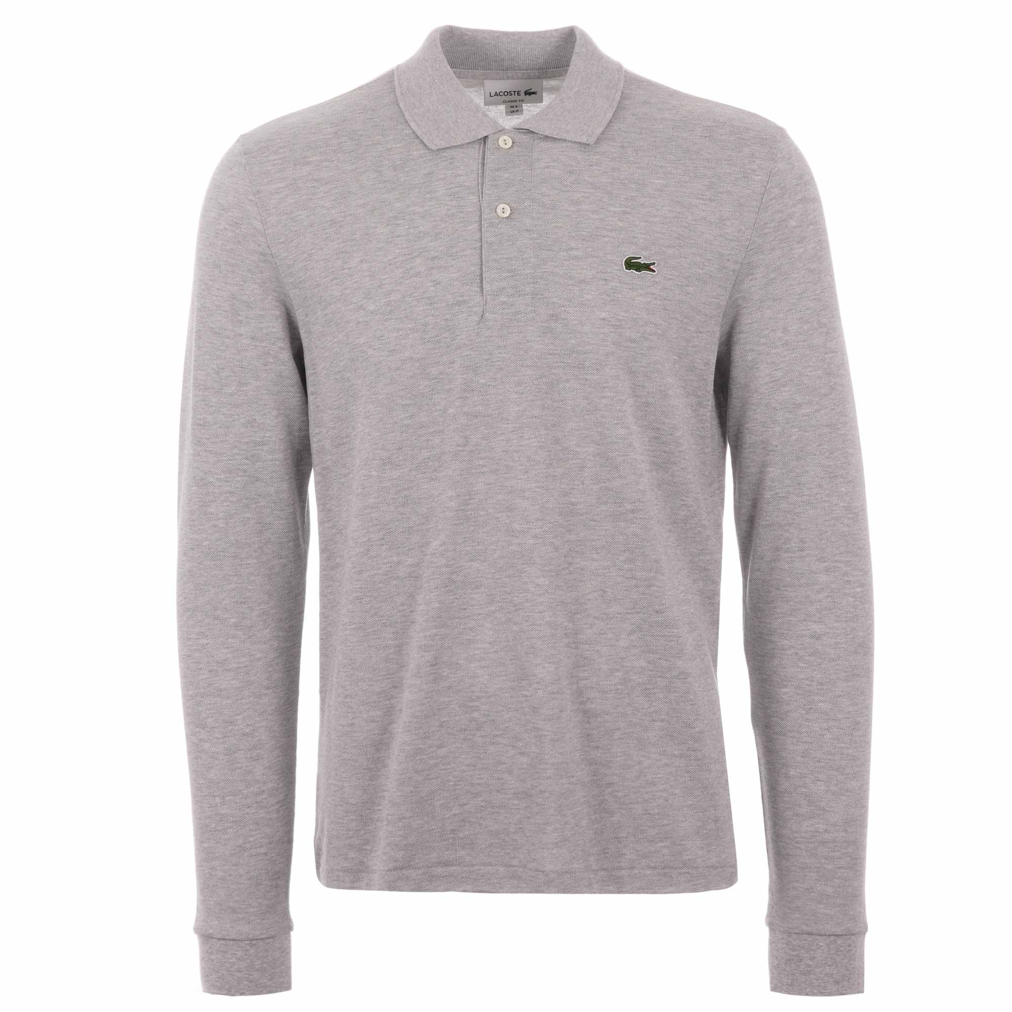 ef9eb8a9 L.13.13 Long Sleeve Polo Shirt - Silver Marl