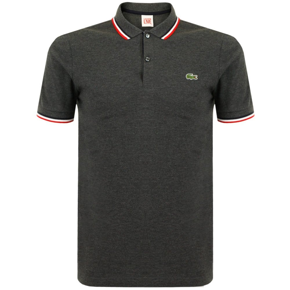 Lacoste Live London Store Dark Grey Pique Polo Shirt