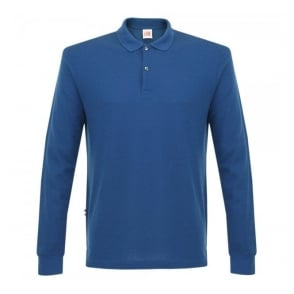 Lacoste Live Pique LS Blue Polo Shirt PH1341