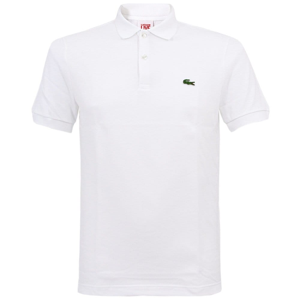 lacoste live ultra slim fit white polo top ph2403 001. Black Bedroom Furniture Sets. Home Design Ideas