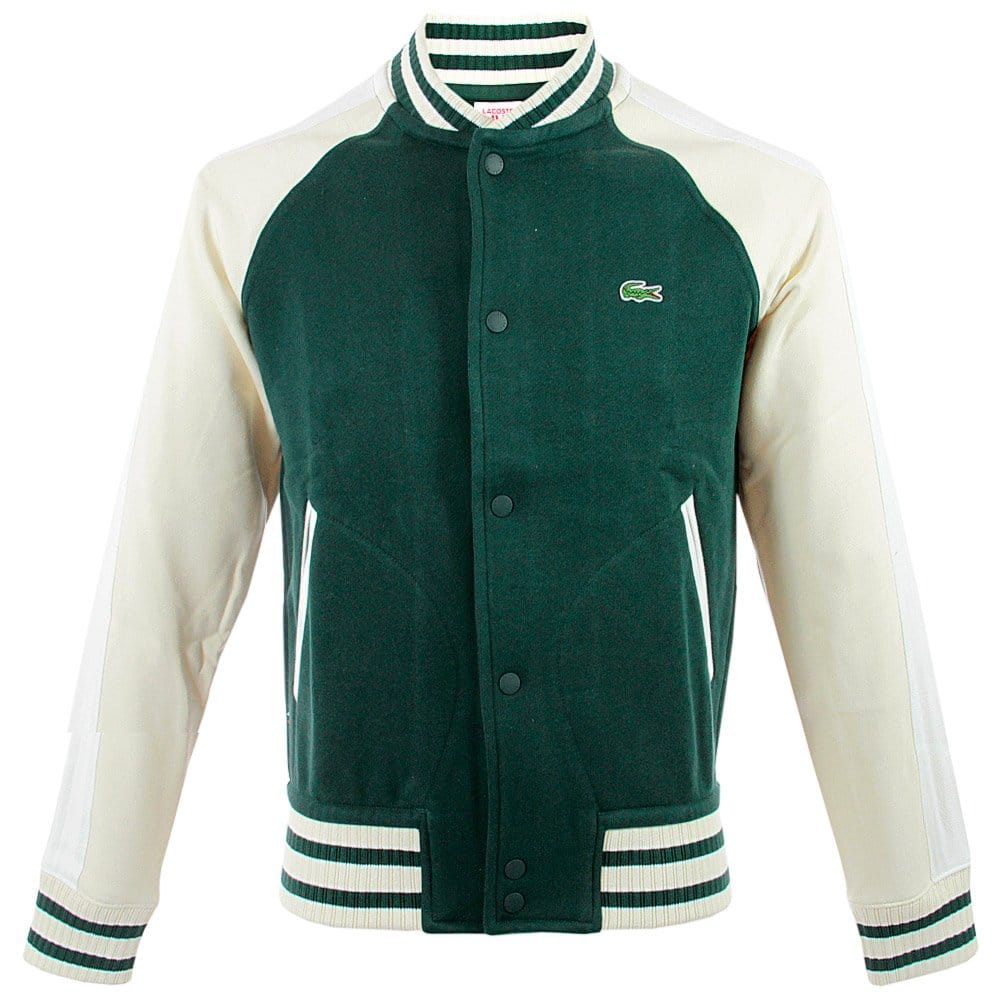 lacoste live menswear shop varsity dark green jacket sh2939. Black Bedroom Furniture Sets. Home Design Ideas