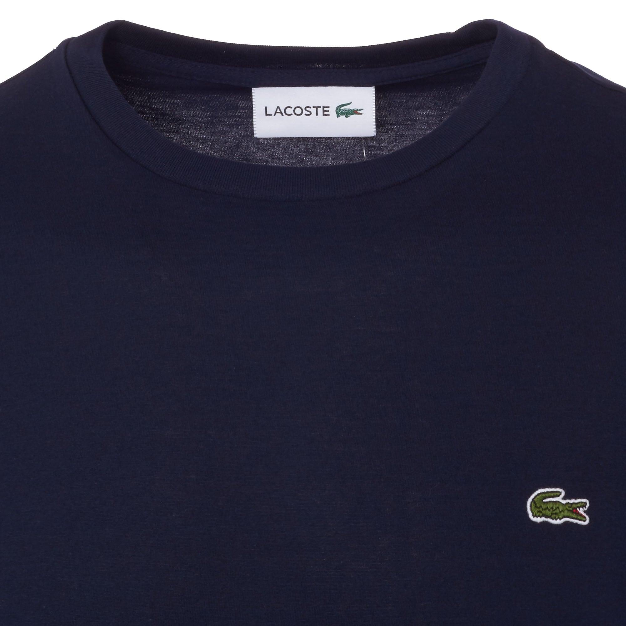 856bd0a3b6979 Lacoste Marine Crew Neck Pima Cotton T-Shirt