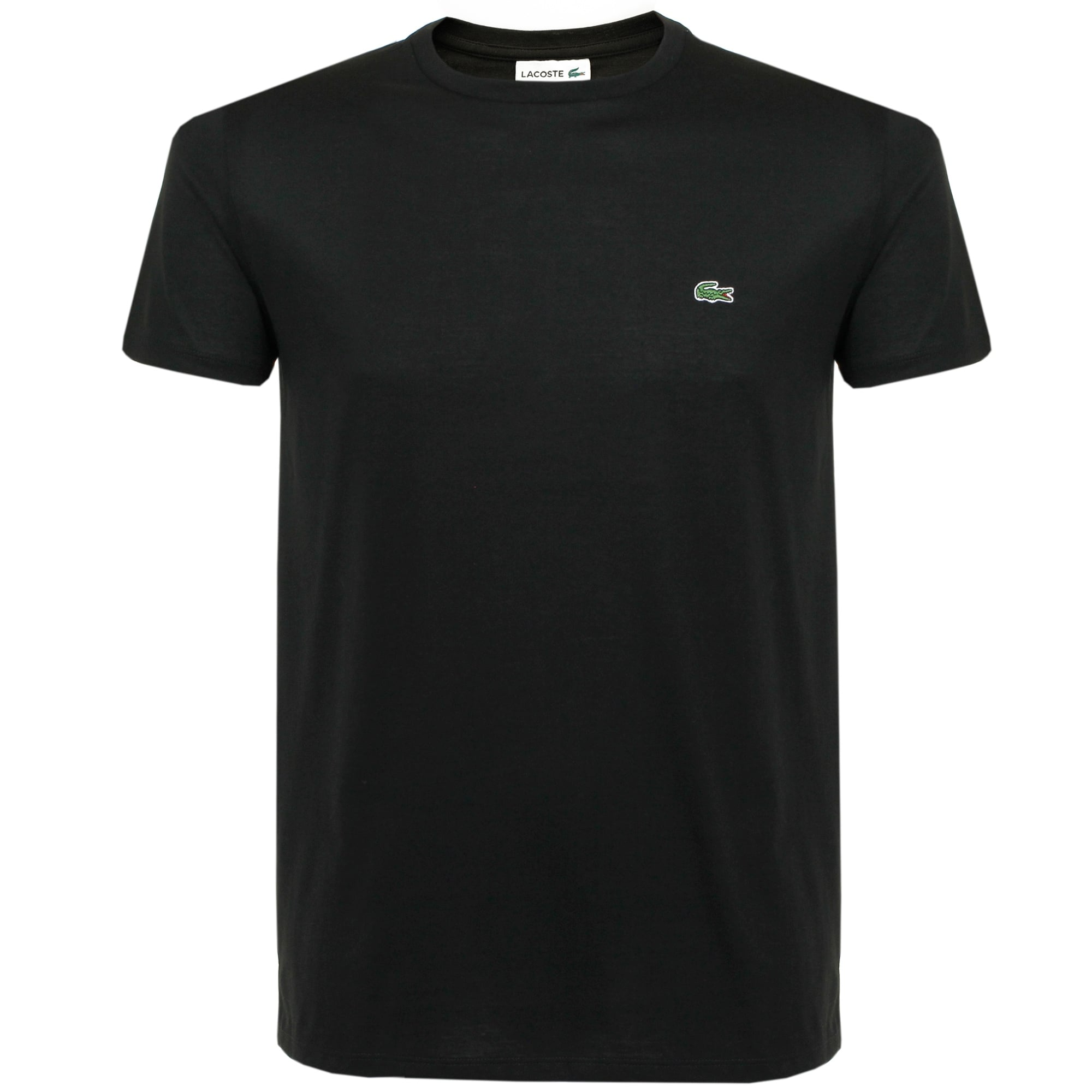 0d460d79a Lacoste Pima Cotton Black T-Shirt TH670900031