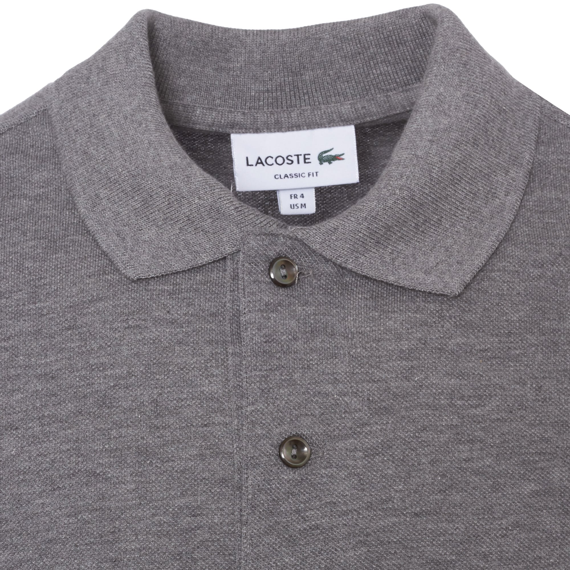 48c4180bc5c Lacoste Clothing Online   Pique Grey Polo Shirt