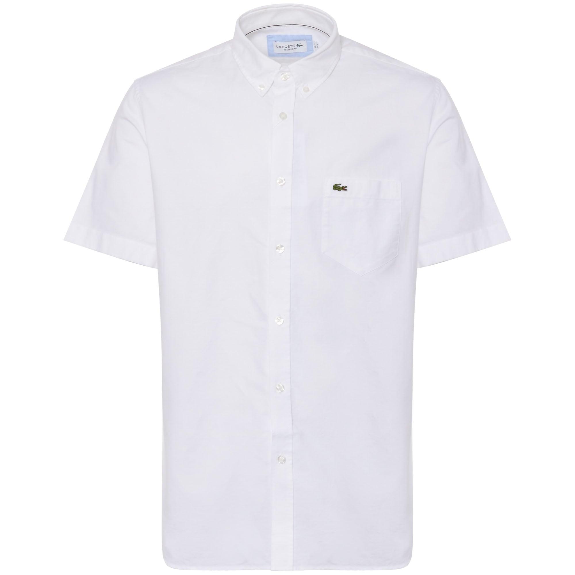 White Short Sleeve Oxford Shirt