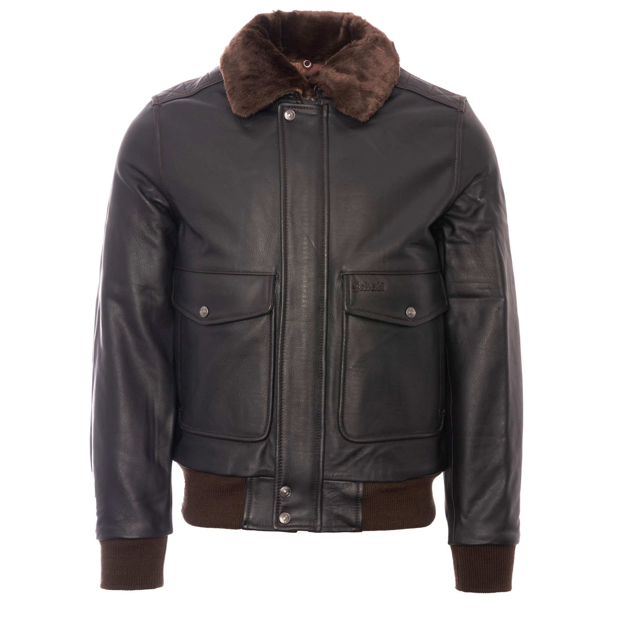 75723e19de0 LC5331X Leather Pilot Jacket - Antic Brown
