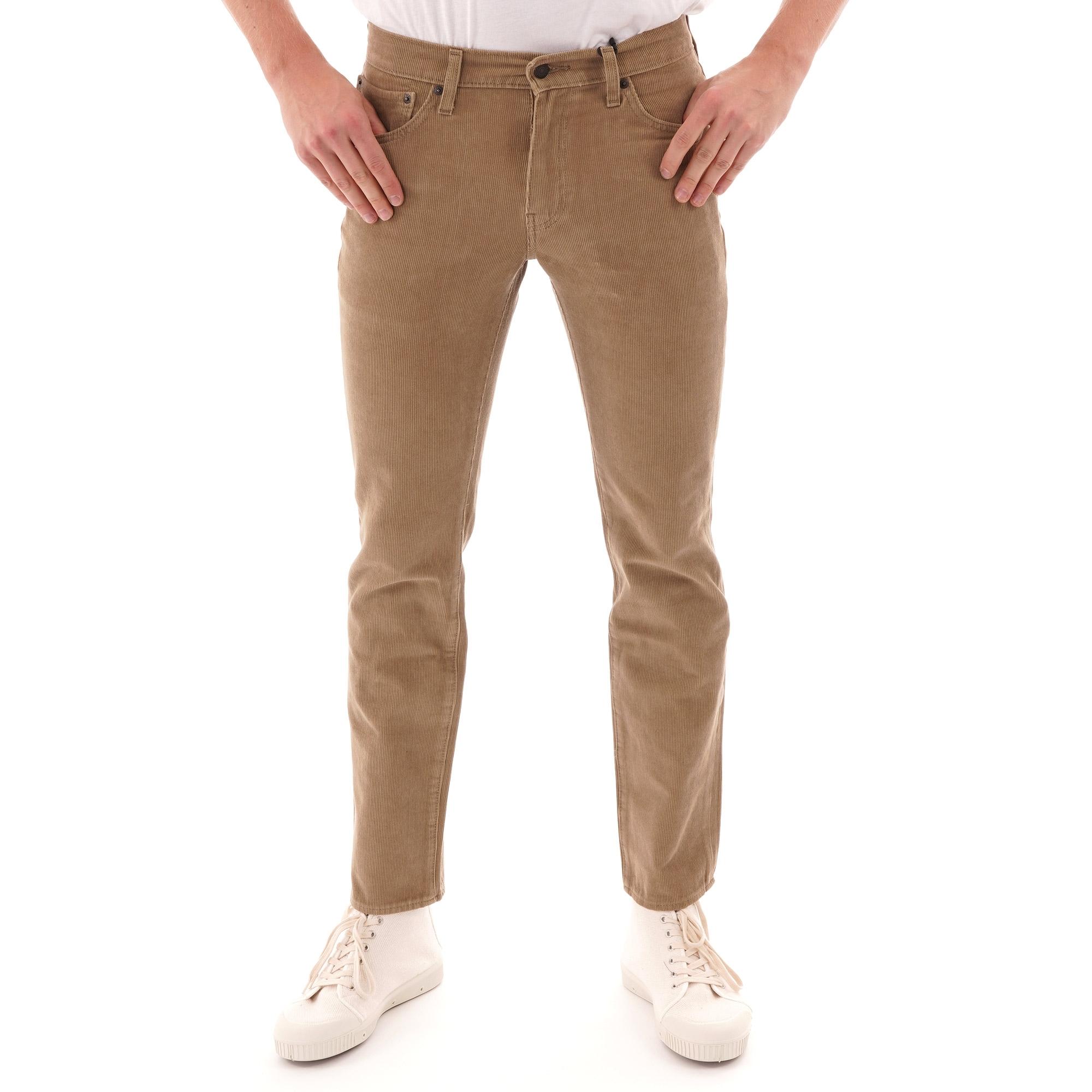 Corduroy Jeans Dark Blue Slim Fit