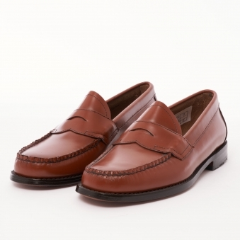 85a45e29942 Logan Polished Leather Loafer - Mid Brown · Bass Weejuns ...