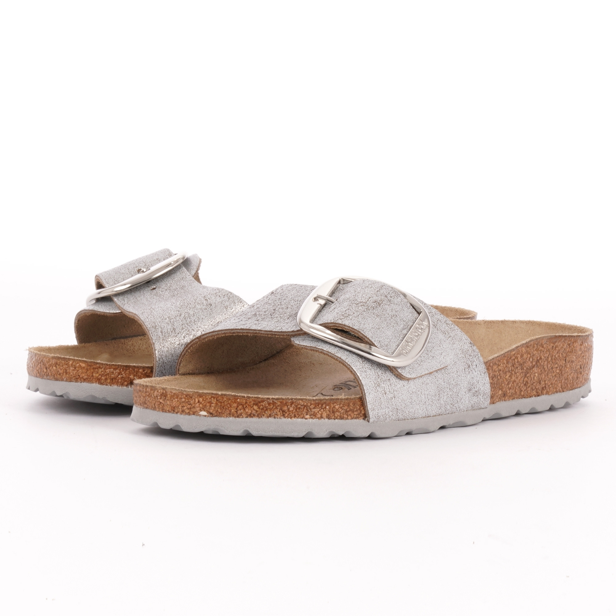 216b03db8e5 Birkenstock Madrid Big Buckle Sandals | Washed Metallic Blue | 1012886
