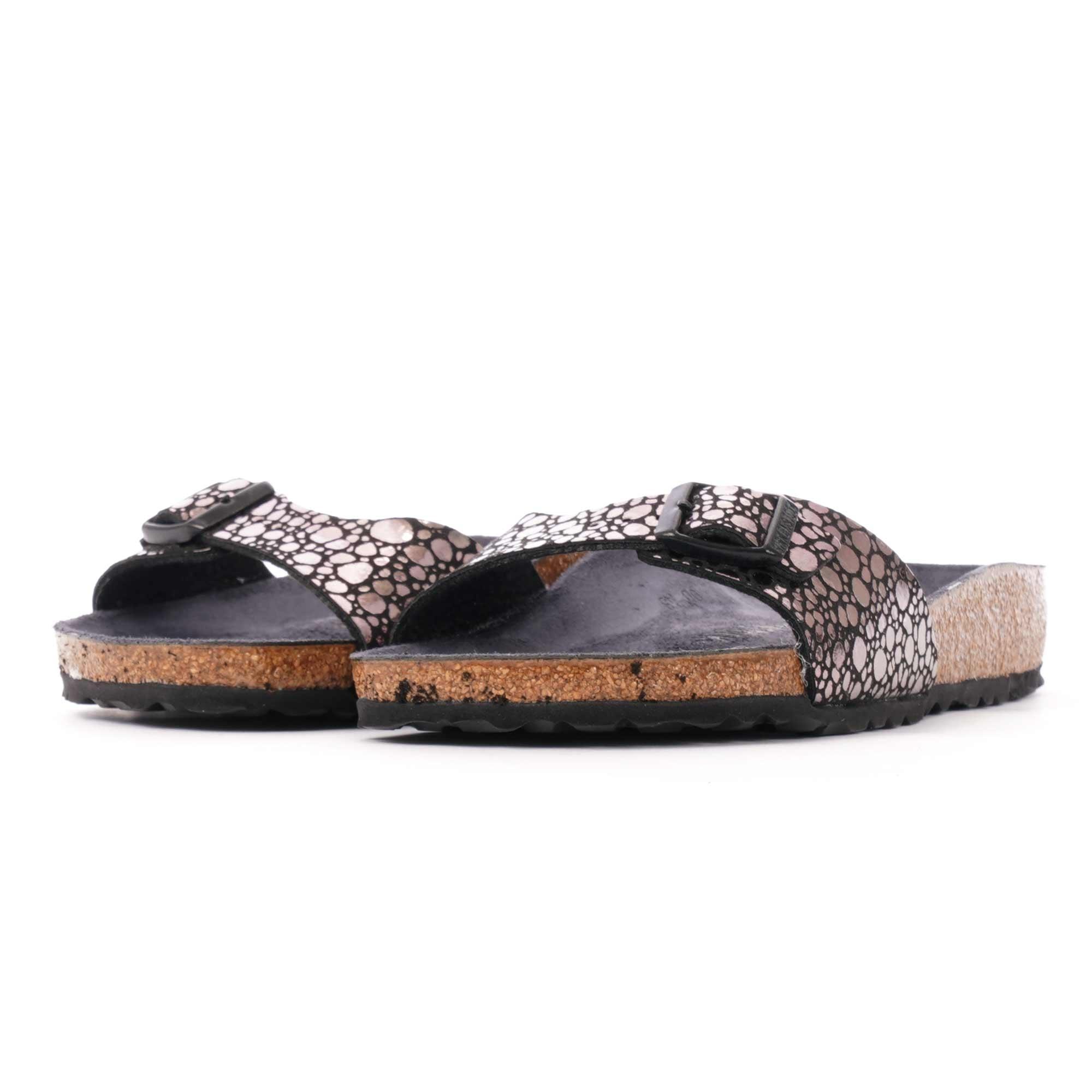 best service b6345 a4ec6 Madrid Sandals - Metallic Stones Black