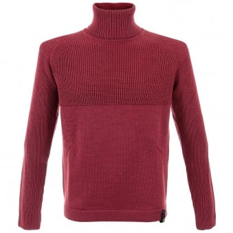 MaStrum Roll Neck Claret Jumper MAS5206