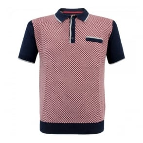 Merc London Olsen Navy Polo Shirt 1614103