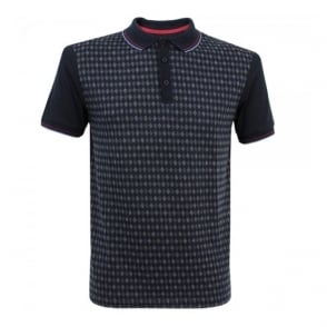 Merc London Ware Diamond Blue Polo Shirt 1914205