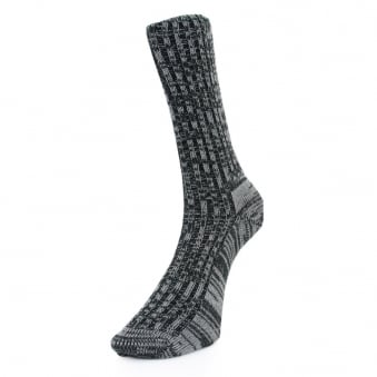 Merz B. Schwanen 2-Thread Black Grey Socks 271