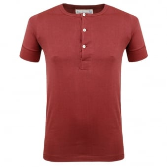 Merz B. Schwanen Button Facing Dark Red Shirt 207