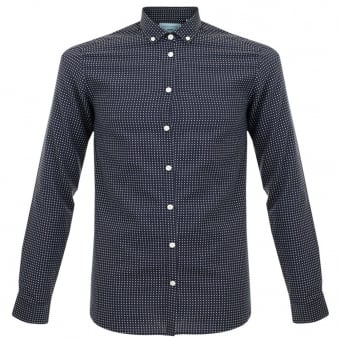 Minimum Broome Polka Dot Navy Shirt 11290016