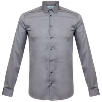 Minimum Hall Grey Melange LS Shirt 11433002