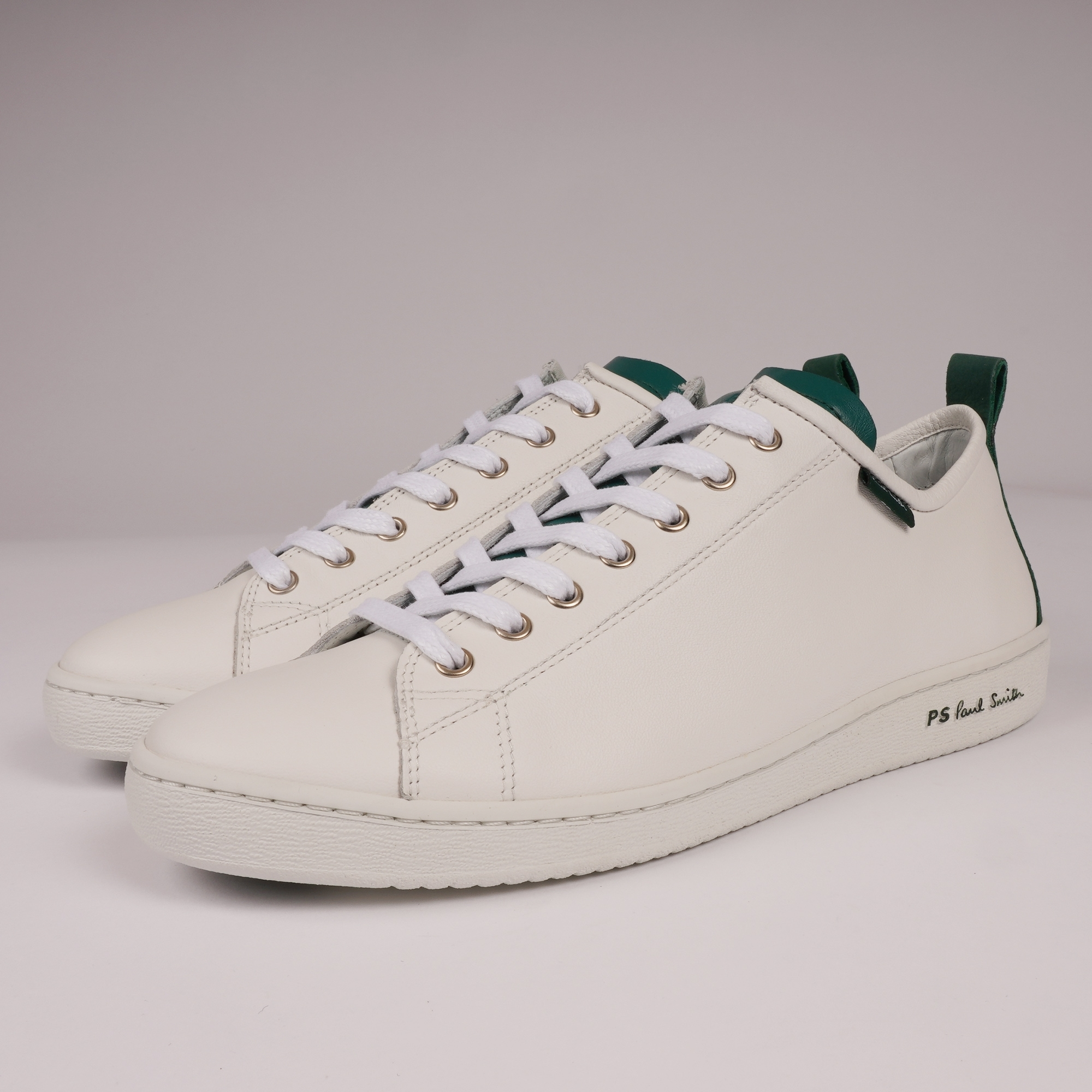 good texture the latest new styles PS by Paul Smith Miyata Sneakers   White & Green  M2S-MIY15-ASET