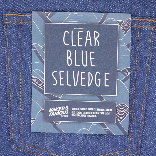 f0417b7eb283 Weird Guy Clear Blue Selvedge Denim - Light Blue