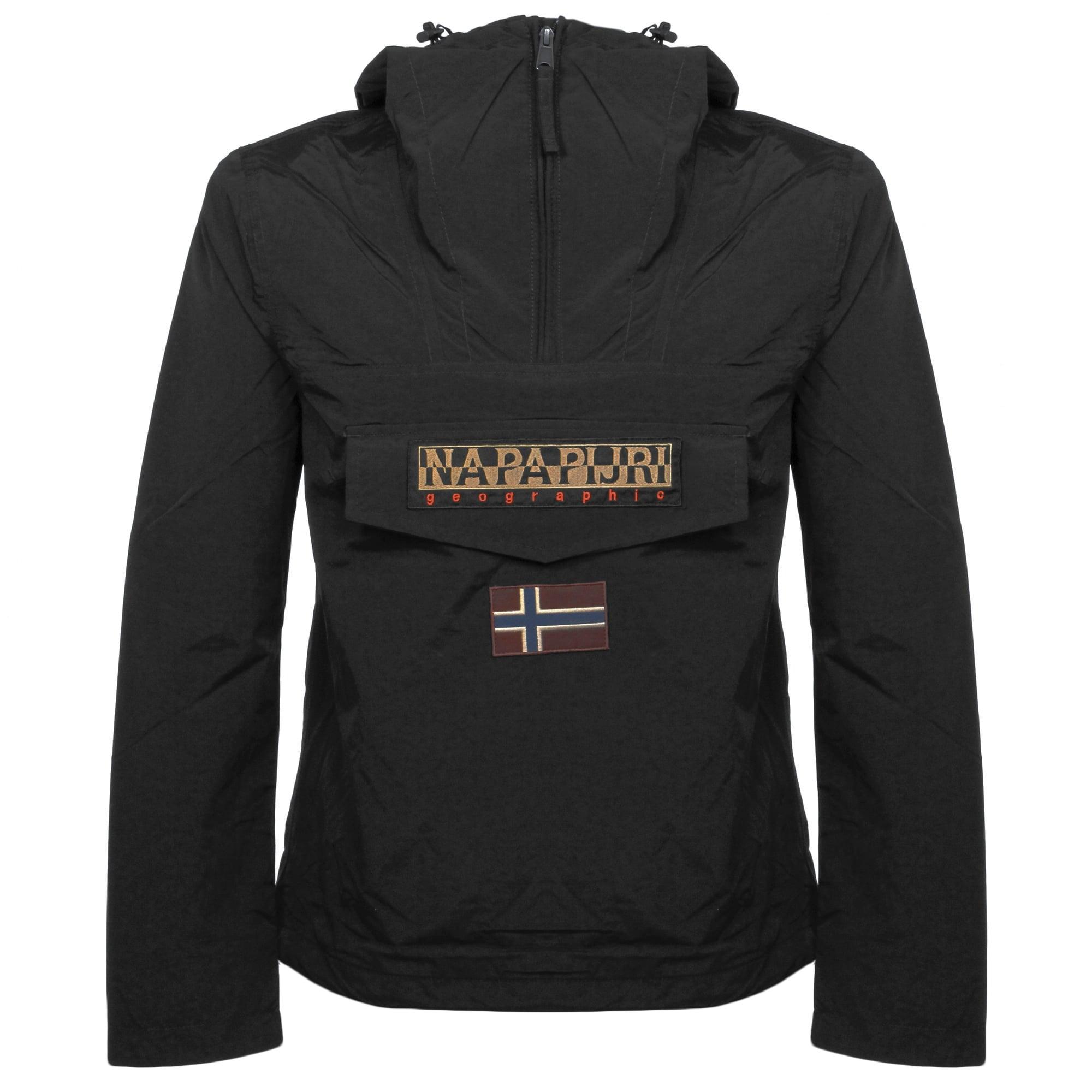 513ecb29ff44 Napapijri Rainforest M Sum Black Cagoule Jacket N0YH0B041