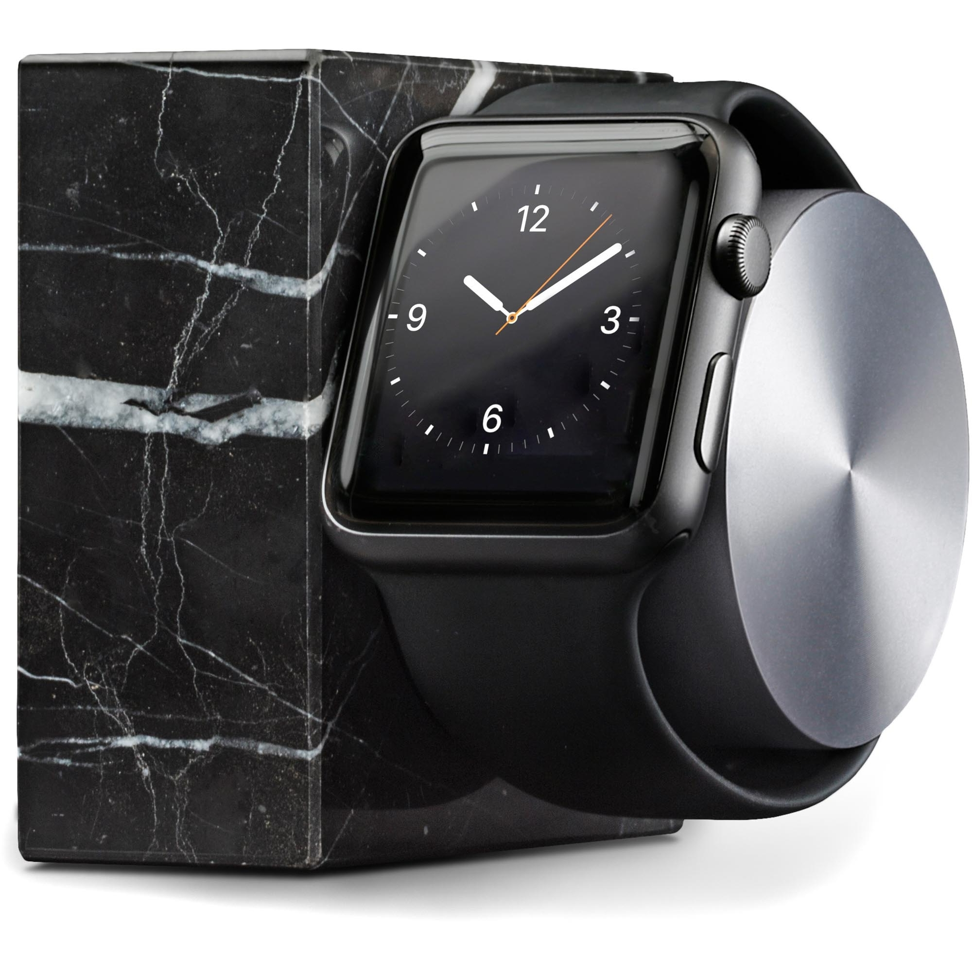 Image of Black Marble Dock For Apple Watch