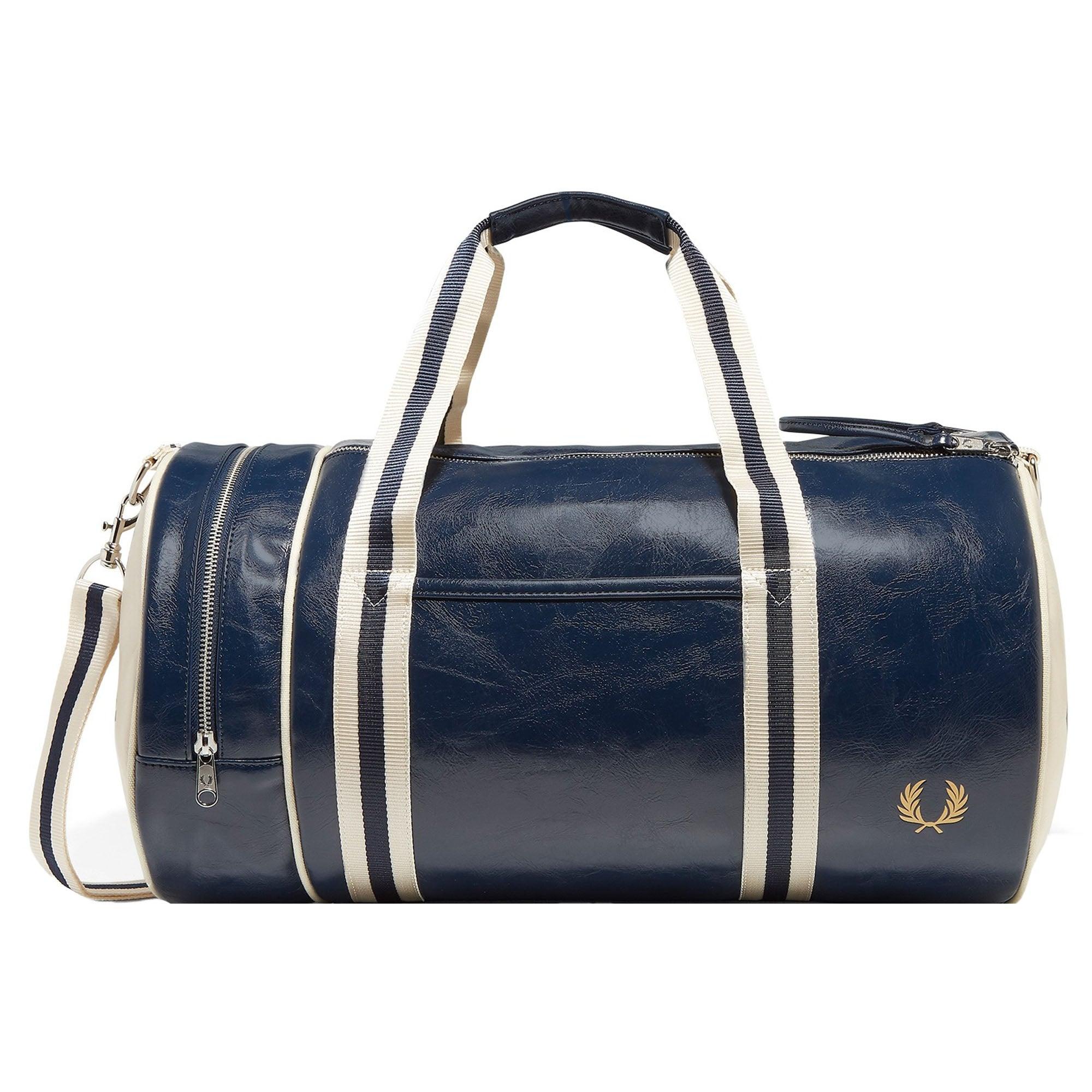 0e57458fdcac Fred Perry Navy Classic Barrel Bag L3330