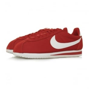 Nike Classic Cortez Nylon Gym Red Shoes 807472 611