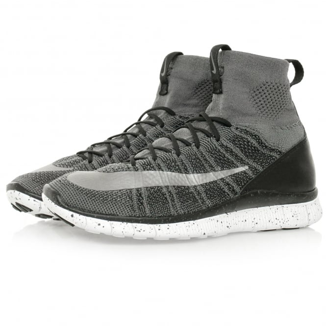 Nike Free Flyknit Mercurial Dark Grey Shoe 805554 004
