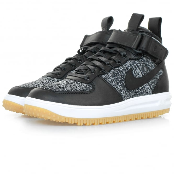 Nike Lunar Force 1 Flyknit Black Workboot 855984 001